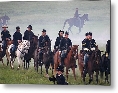Union Cavalry On The March - Perryville Ky Metal Print by Thia Stover