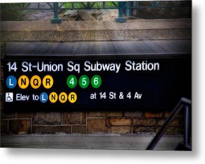 Union Square Subway Station Metal Print by Susan Candelario