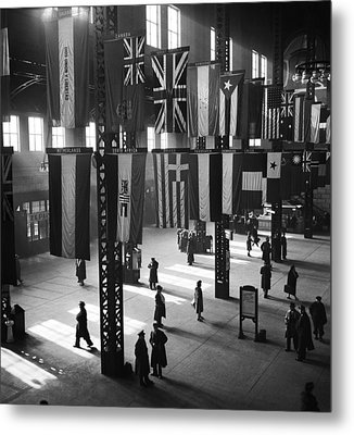 Union Station In Chicago Metal Print by Jack Delano