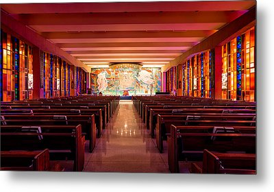 United States Air Force Academy Catholic Cadet Chapel Metal Print by Alexis Birkill