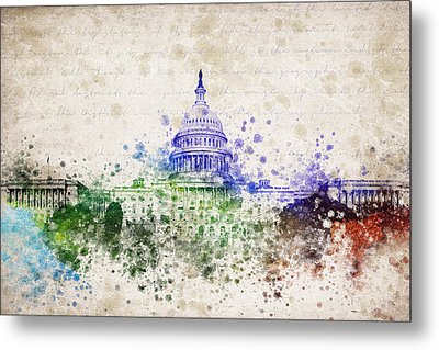 United States Capitol Metal Print by Aged Pixel