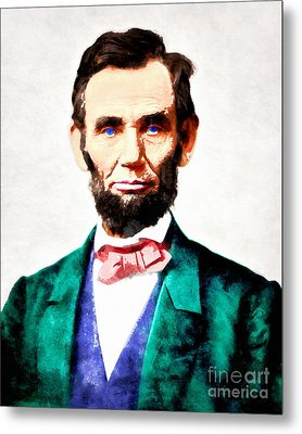 United States President Abraham Lincoln 20140914wc V2 Metal Print by Wingsdomain Art and Photography