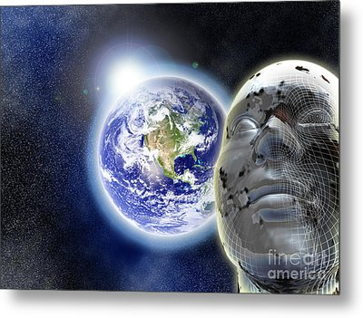 Alone In The Universe Metal Print by Stefano Senise