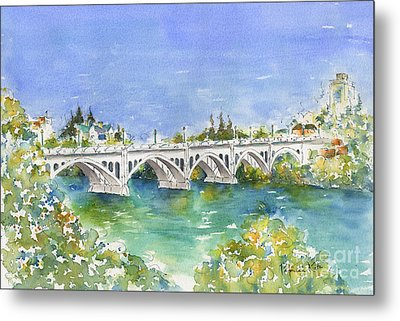 University Bridge Metal Print by Pat Katz