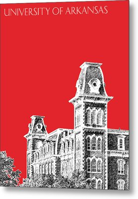 University Of Arkansas - Red Metal Print by DB Artist