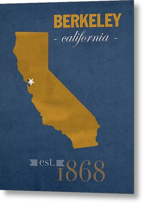 University Of California At Berkeley Golden Bears College Town State Map Poster Series No 024 Metal Print by Design Turnpike