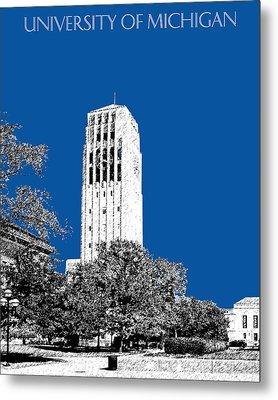 University Of Michigan - Royal Blue Metal Print by DB Artist