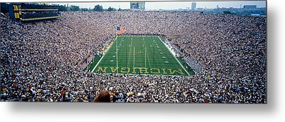 University Of Michigan Football Game Metal Print by Panoramic Images