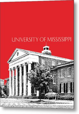 University Of Mississippi - Red Metal Print by DB Artist