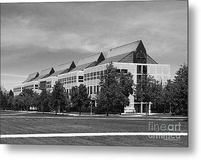 University Of Notre Dame De Bartolo Hall Metal Print by University Icons