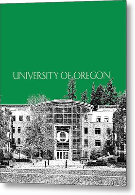 University Of Oregon - Forest Green Metal Print by DB Artist