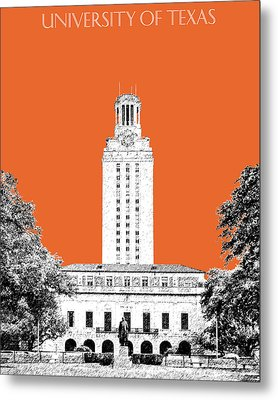 University Of Texas - Coral Metal Print by DB Artist