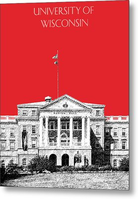 University Of Wisconsin - Red Metal Print by DB Artist