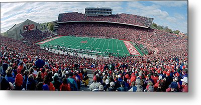 University Of Wisconsin Football Game Metal Print by Panoramic Images