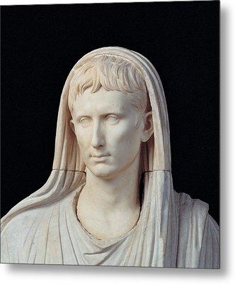 Unknown Artist, Statue Of Augustus Metal Print by Everett