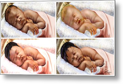 Unto The World A King Is Borne Metal Print by Reggie Duffie
