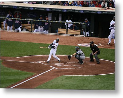 Up At Bat Metal Print by Jaymes Grossman