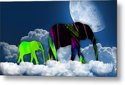 Up In The Clouds Metal Print by Marvin Blaine