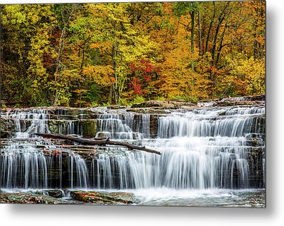 Upper Cataract Falls On Mill Creek Metal Print by Chuck Haney