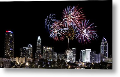 Uptown Fireworks 2014 - Pano Metal Print by Chris Austin