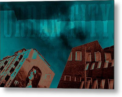 Urban City Metal Print by Toppart Sweden