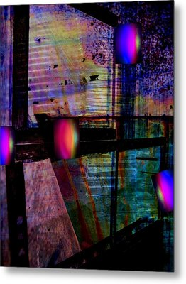 Urban Complexities Metal Print by Shirley Sirois