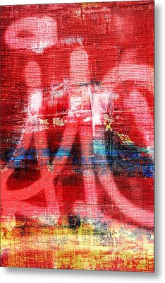 Urban Graffiti Abstract Color Metal Print by Edward Fielding