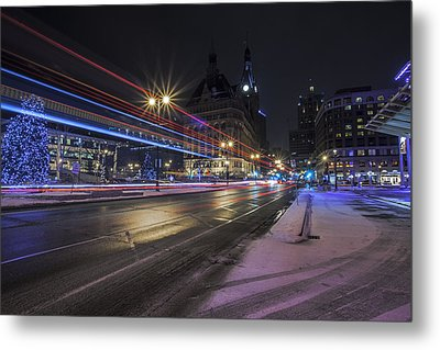 Urban Holiday  Metal Print by CJ Schmit