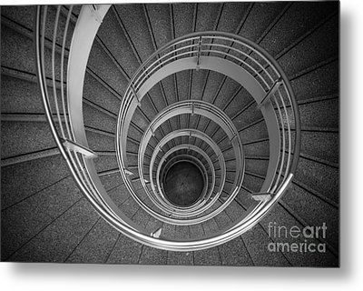 urban spiral - gray II Metal Print by Hannes Cmarits