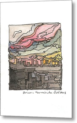 Urban Sunset Metal Print by Aruna Samivelu