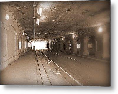 Urban Tunnel Metal Print by Valentino Visentini