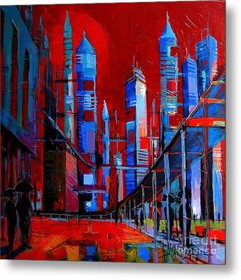 Urban Vision - City Of The Future Metal Print by Mona Edulesco