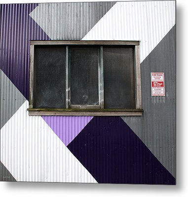 Urban Window- Photography Metal Print by Linda Woods