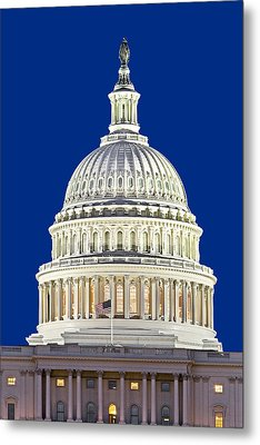 Us Capitol Dome Metal Print by Susan Candelario