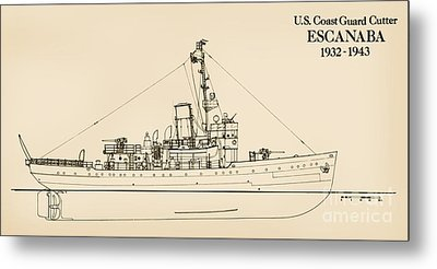 U. S. Coast Guard Cutter Escanaba Metal Print by Jerry McElroy - Public Domain Image