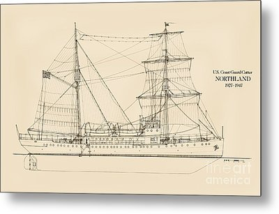 U. S. Coast Guard Cutter Northland Metal Print by Jerry McElroy - Public Domain Image