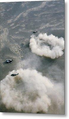 Us Helicopters Landing In Afghanistan Metal Print by U.s. Marine Corps