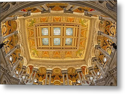 Us Library Of Congress Metal Print by Susan Candelario