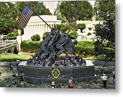 Us Marine Corps War Memorial Metal Print by Ricky Barnard