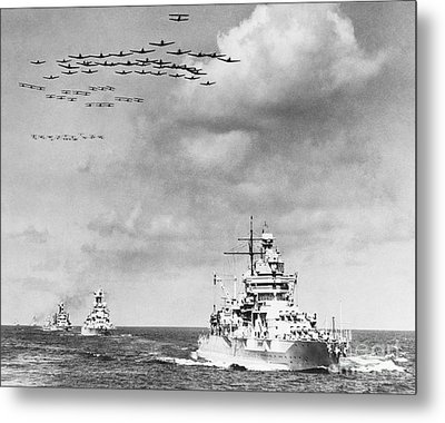 Us Navy And Aeroplanes, World War II Metal Print by Library Of Congress