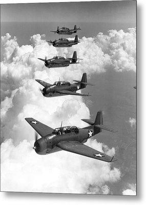 U.s. Navy Torpedo Bombers Metal Print by Granger
