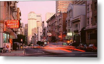 Usa, California, San Francisco, Evening Metal Print by Panoramic Images