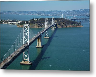 Usa, California, San Francisco?oakland Metal Print by David Wall