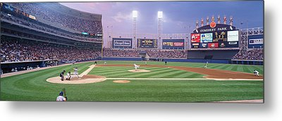 Usa, Illinois, Chicago, White Sox Metal Print by Panoramic Images