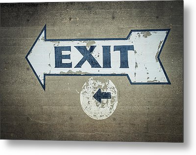 Usa, Mississippi, Exit Sign In Great Metal Print by Dosfotos