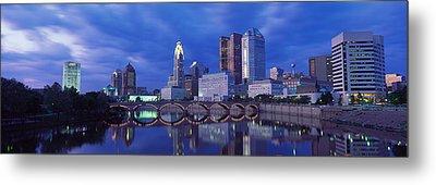 Usa, Ohio, Columbus, Scioto River Metal Print by Panoramic Images
