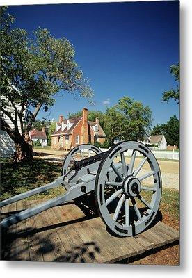 Usa, Virginia, Yorktown, Cannon Metal Print by Walter Bibikow