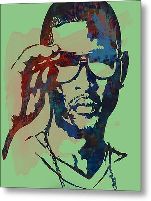 Usher Raymond Iv  - Stylised Pop Art Sketch Poster Metal Print by Kim Wang
