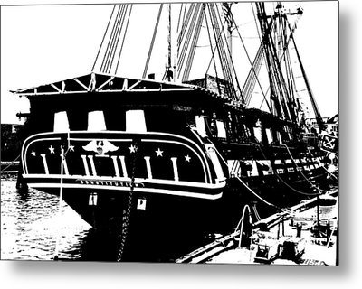 Uss Constitution Metal Print by Charlie and Norma Brock