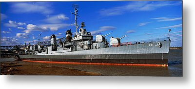 Uss Kidd Navy Ship At A Memorial, Uss Metal Print by Panoramic Images